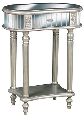 Picture of Pulaski - Silver Accent Table with Mirror Top