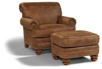 Picture of Bay Bridge NuvoLeather Chair & Ottoman