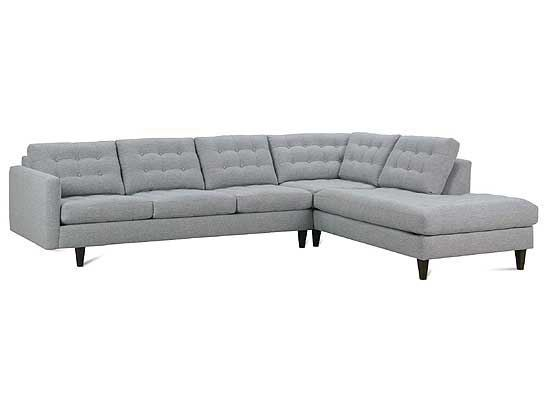 Modern Mix Button Back Sectional
