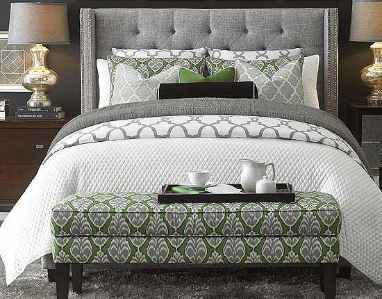 Dublin Upholstered Bedroom by Bassett furniture