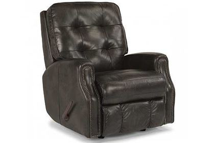 Devon Swivel Gliding Leather Recliner