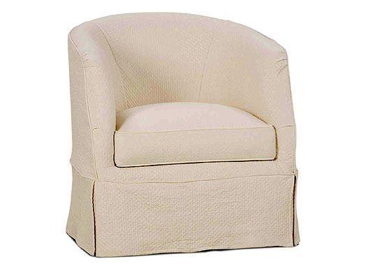 Ava Slipcover Swivel (P155-016) Chair