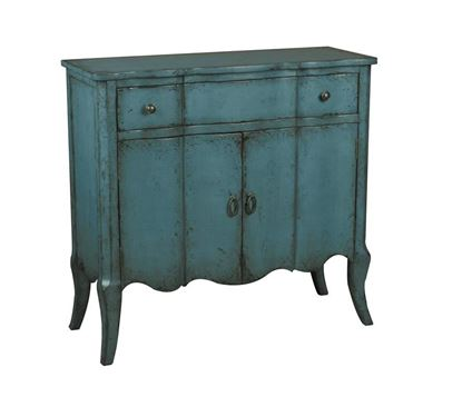 Picture of Pulaski - Distressed Turquoise Chest
