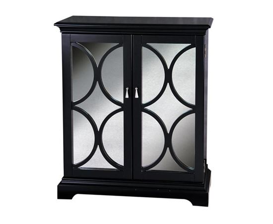 Picture of Pulaski - Black Accent Chest with Wooden Grill