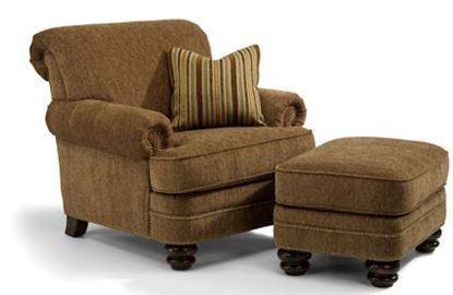 Bay Bridge Fabric Chair & Ottoman (7791-10-08)