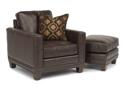 Port Royal Leather Chair & Ottoman