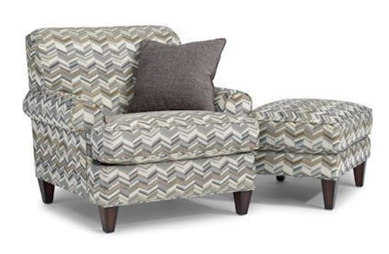 Venture Fabric Chair & Ottoman (5654-10-08)