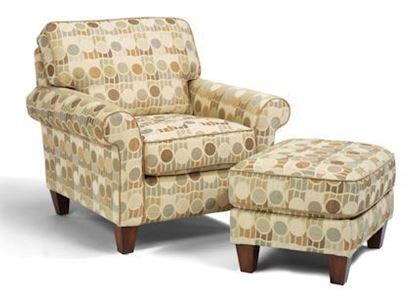 Westside Fabric Chair & Ottoman (5979-10-08)