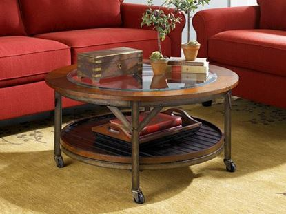 Picture of MERCANTILE Round Cocktail Table-KD