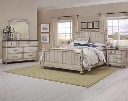 Arrendelle Bedroom Collection w/ Rustic White finish