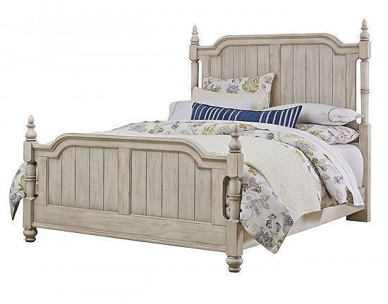 Arrendelle Poster Bed with Rustic White finish