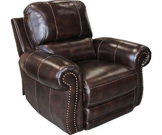 Thurston Havana Leather Recliner (822P-HA)