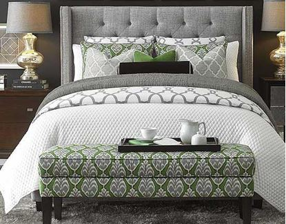 Dublin Upholstered Bedroom by Bassett furniture