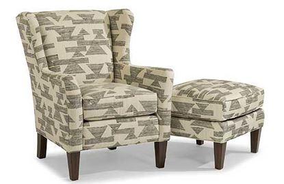Ace Fabric Chair & Ottoman (0130-10)