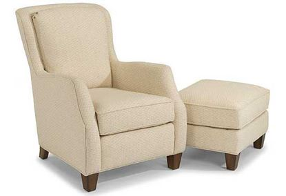 Allison Fabric Chair & Ottoman  (0124-10)