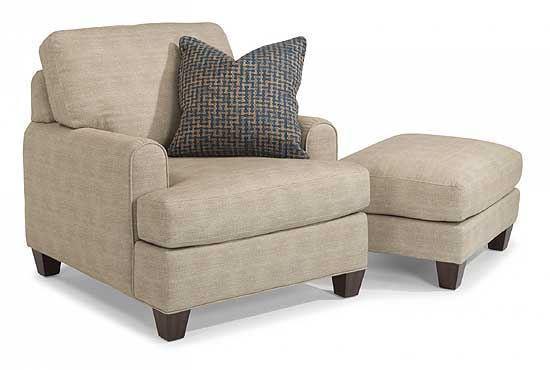 Donatello Fabric Chair and Ottoman