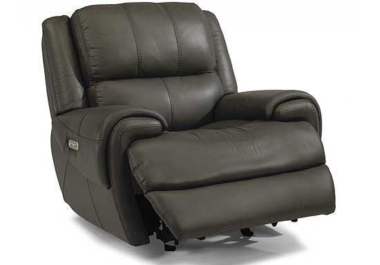 Nance Gliding Leather Recliner with Power Headrest (1179-54PH)