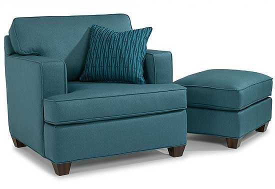 Pierce Fabric Chair & Ottoman
