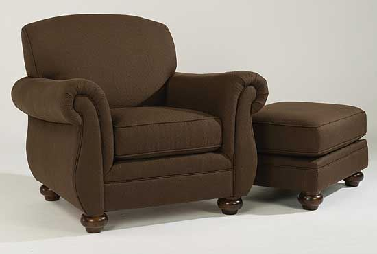 Winston Fabric Chair with Ottoman