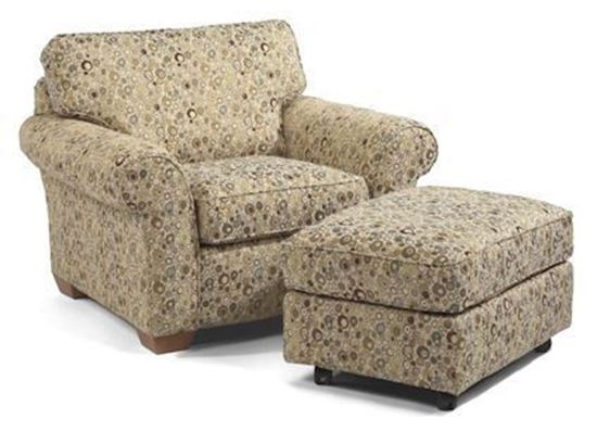 Vail Fabric Chair & Ottoman (7503-10)