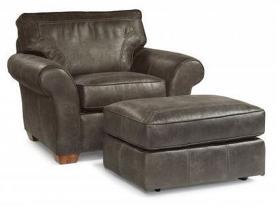 Vail Leather Chair and Ottoman (3305-10)