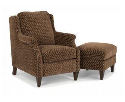 Zevon Fabric Chair & Ottoman (5633-10)