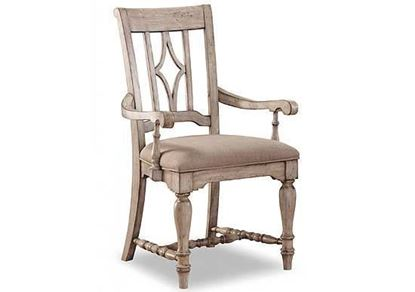 Plymouth Upholstered Arm Dining Chair W1147-841