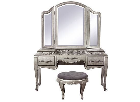 Rhianna Vanity with Mirror and Stool