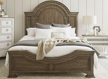 Glendale Estates Bed in Medium Brown Finish