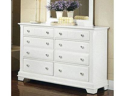 Cottage Double Dresser in a Snow White finish