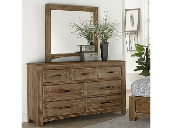 Cottage Too Youth Dresser with Mirror in a Saddle Grey finish
