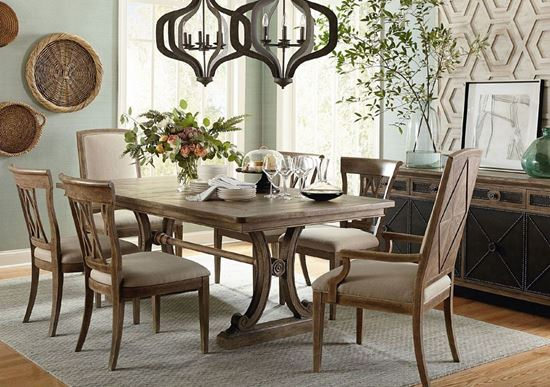 Woodridge Dining Collection in a Sierra Brown finish