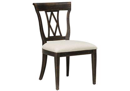 Woodridge Side Chair (4497-2451) in a Cavern Black finish