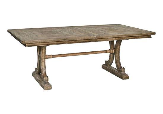 Woodridge Rectangular Dining Table (4597-8344) in a Sierra Brown finish