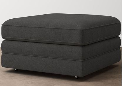 Aiden Square Storage Ottoman 2713-SSFC9 in a Charcoal fabric