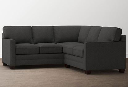 Small L-Shaped Aiden Sectional (2713-LSECTSFC9) in a Charcoal fabric