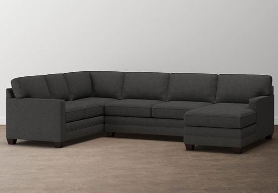 Aiden U-Shaped Sectional (2713-USECTFC9) with a Charcoal fabric