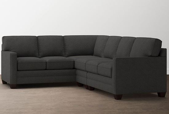 Aiden Large Sectional (2713-LSECTLFC9) in a Charcoal fabric