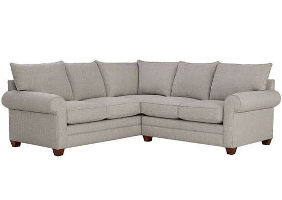 Alexander Small Sectional (2712-LSECTSFC2) in a Fog fabric