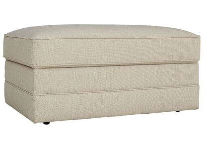 Alexander Storage Ottoman (2712-S2) in a Straw fabric