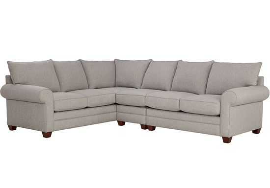 Alexander Large Sectional (2712-LSECTL) in a Fog fabric