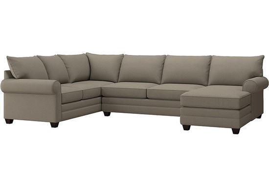 Alexander U-Shaped Sectional (2712-USECTFC2) in a Fog fabric