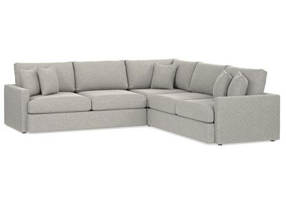 Allure L-Shaped Sectional 2611-LSECTLL in a smoke fabric