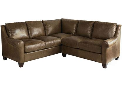 American Casual Small Ellery Leather Sectional 3101-LSECTLS