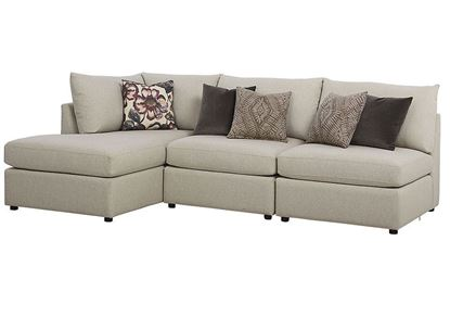 Beckham Small Chaise Sectional 2676-CUSTOM