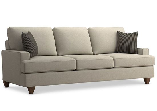 Custom Upholstery Grand Sofa C000-92DT with track arms and a loose-knife back