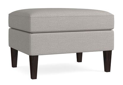 Bassett Custom Rectangle Ottoman D000-01 in a Casual Boucle Texture Gray fabric