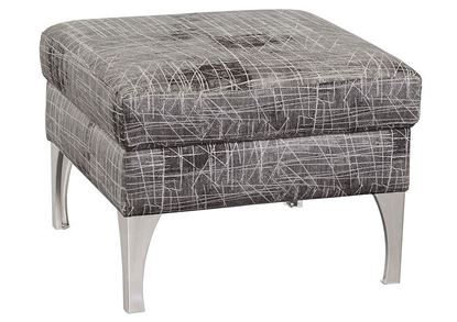Bassett Custom Square Ottoman D000-00 with Metal Legs