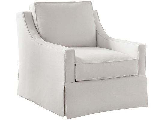 Designer Comfort Exeter Accent Chair 2646-02 with Waterfall Skirt