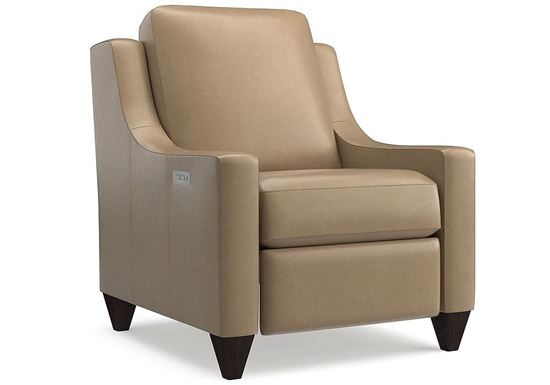 Magnificent Motion Reclining Leather Chair (M000-12ML) in a Sterling Sable Leather